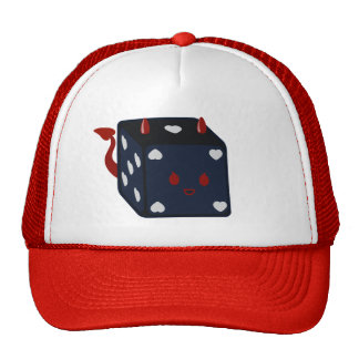 Devil Dice with Hearts Hats
