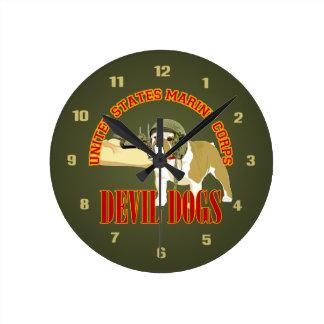 Devil Dog Armor Wall Clock