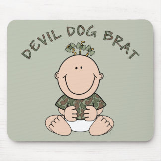 Devil Dog Brat (Girl) Mouse Pad