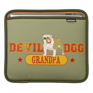 Devil Dog Grandpa iPad Sleeve