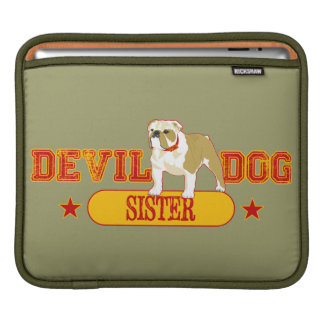 Devil Dog Sister iPad Sleeve