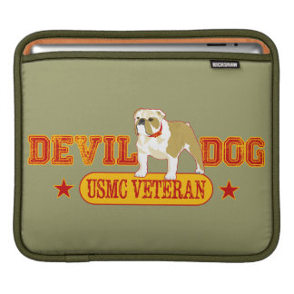 Devil Dog Veteran USMC iPad Sleeve