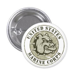 Devil Dog Vintage Emblem 3 Cm Round Badge