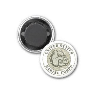 Devil Dog Vintage Emblem 3 Cm Round Magnet