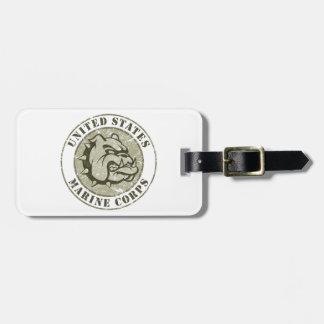 Devil Dog Vintage Emblem Luggage Tag