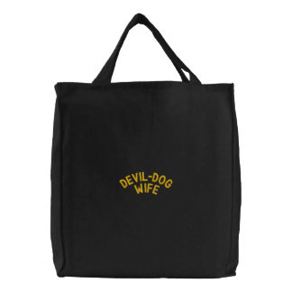 DEVIL-DOG WIFE EMBROIDERED BAGS
