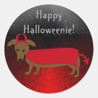Devil Doggie Classic Round Sticker