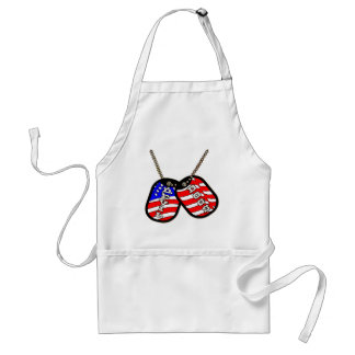 Devil Dogs American Flag Dog Tags Standard Apron