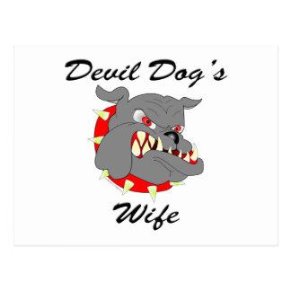 Devil Dog's Wife Postcard