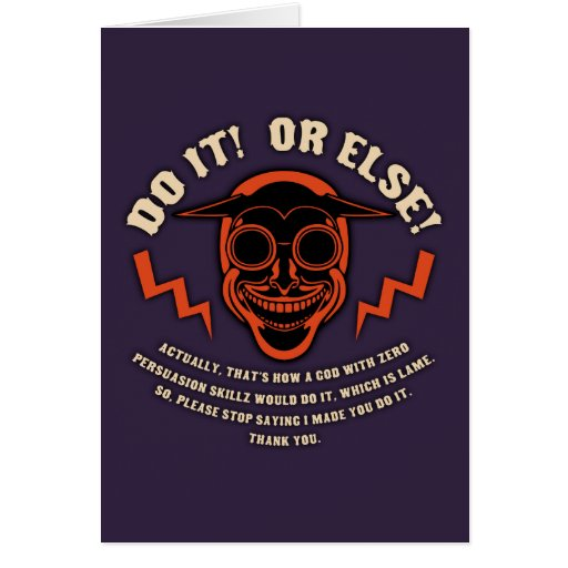 Devil Don't Make Nobody Do Nothin' Cards