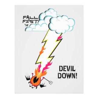 DEVIL DOWN! 21.5 CM X 28 CM FLYER
