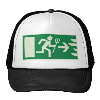 devil emergency exit mesh hats