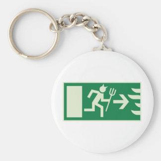 devil emergency exit key chain