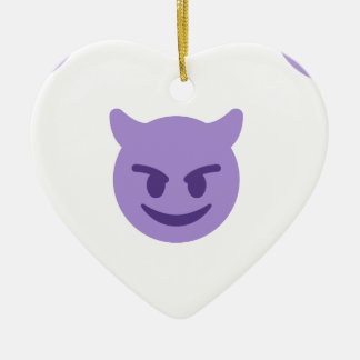 devil emoji christmas ornament