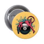 Devil Girl 8-Ball Buttons