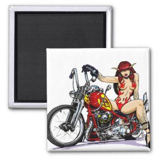 Devil Girl Biker Magnet