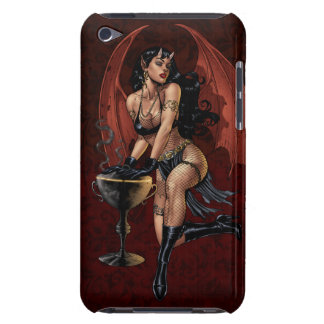 Devil Girl Witch s Cauldron Smoking Gothic Art iPod Touch Case