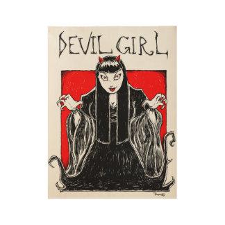 "Devil Girl Wood Poster, 19"" x 14.5"" Wood Poster"