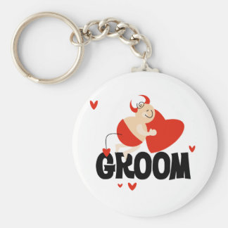 Devil Groom T-shirts and Gifts Keychain