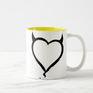 Devil Heart Two-Tone Coffee Mug