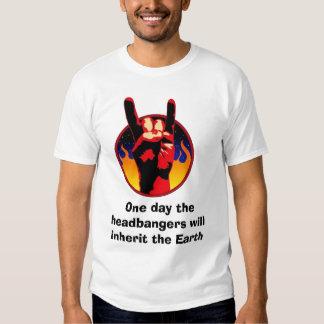 Devil Horns, One day the headbangers will inher... Shirts