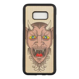 Devil Illustration Carved Samsung Galaxy S8+ Case