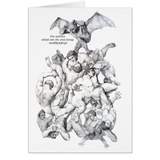 DEVIL IN TROUBLE GREETING CARDS