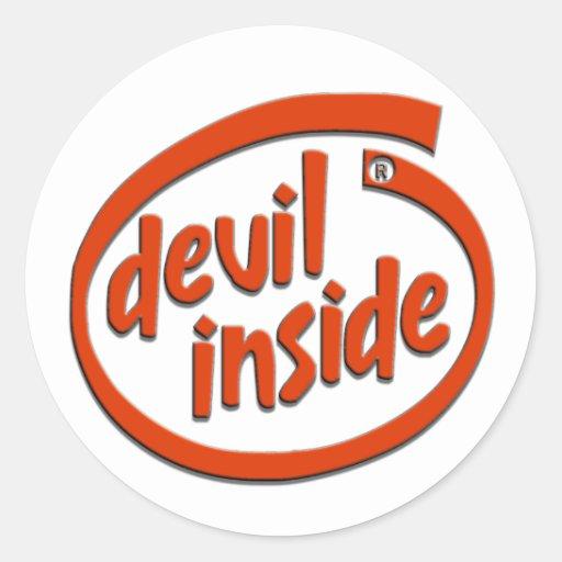 DEVIL INSIDE ROUND STICKER