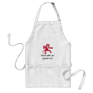 Devil is in the details. standard apron