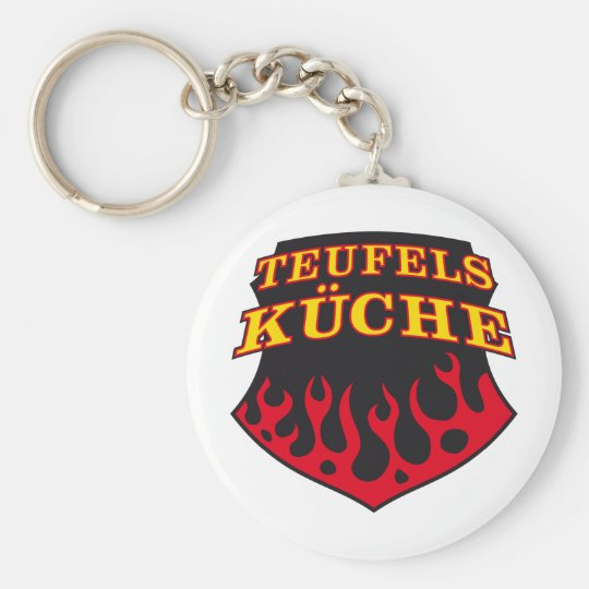 Devil kitchen witch kitchen basic round button key ring