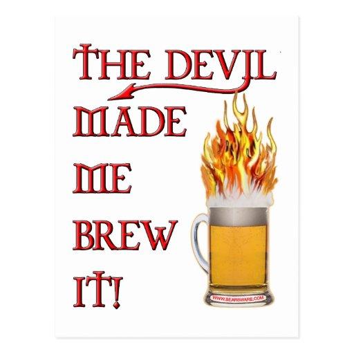 Devil Made Me Brew It - beer Postcards