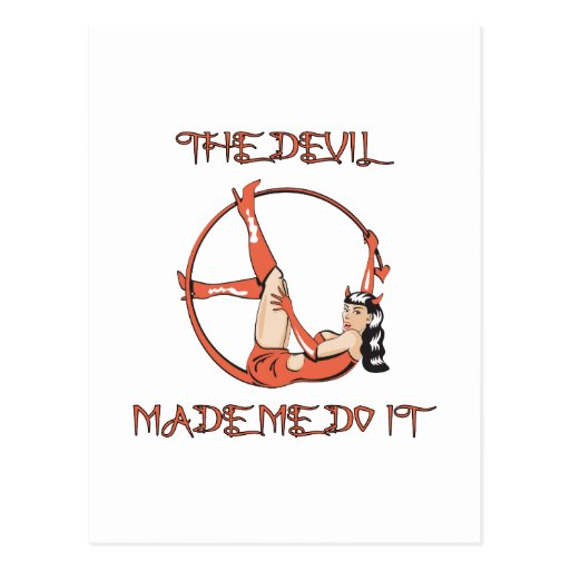 Devil Made Me Do It Postcards