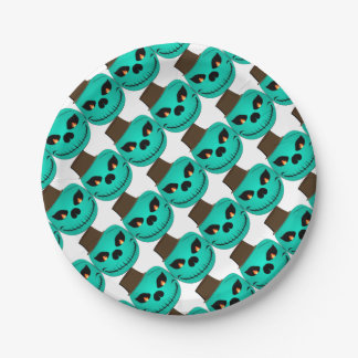 Devil monster paper plate