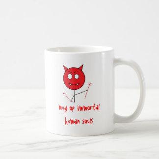 devil, mug of immortal human souls
