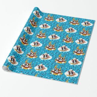 Devil or Angel Boston Terrier Wrapping Paper
