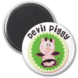 Devil_Piggy Refrigerator Magnet