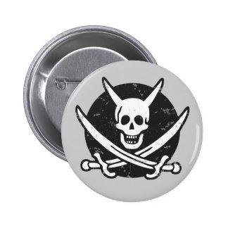 Devil Pirate -bw 6 Cm Round Badge