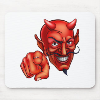 Devil Pointing Mouse Pad