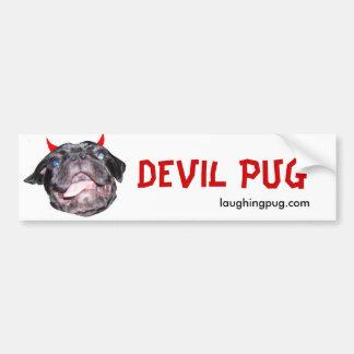 Devil Pug Bumper Bumper Sticker
