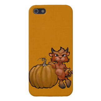 Devil Pup with Pumpkin iPhone 5/5S Covers