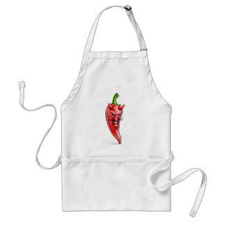 Devil Red Hot Chilli Pepper Cartoon Character Standard Apron