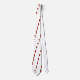 Devil Red Hot Chilli Pepper Cartoon Character Tie