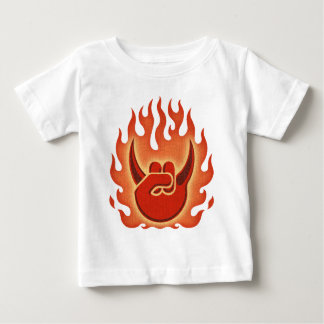 Devil Rock Flames Baby T-Shirt