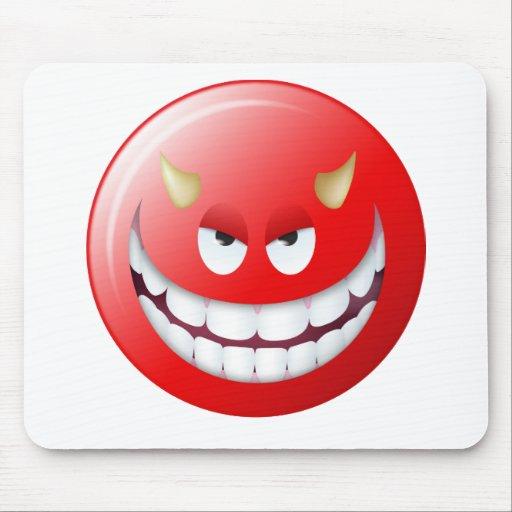 Devil Smiley Face 2 Mouse Pad