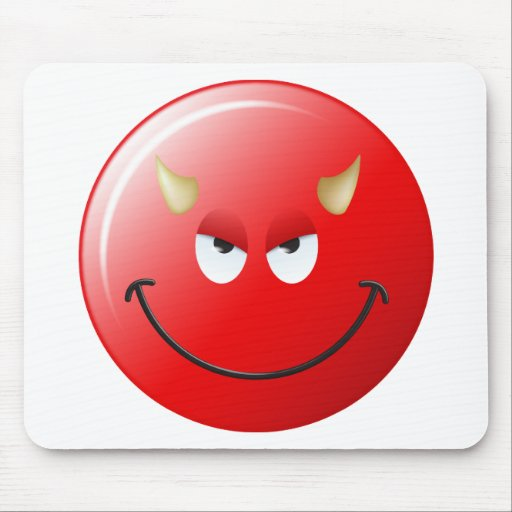 Devil Smiley Face Mousepads