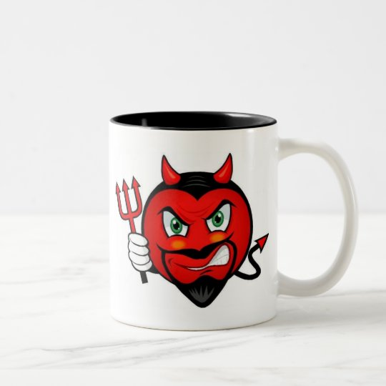 Devil Smiley Two-Tone Coffee Mug