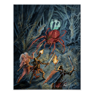 Devil Spider Attack Poster