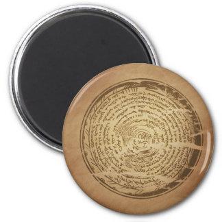 Devil Trap Assyrian Magic Charms 6 Cm Round Magnet