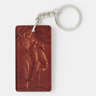 Devil Woman red key chain