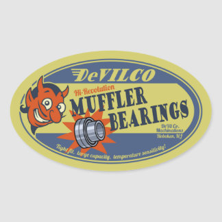 DeVILco Muffler Bearings Oval Sticker